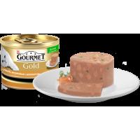"""Gourmet Gold """"Кусочки в паштете с уткой, морковью и шпинатом по-французски"""", консервированный корм для котов, 85гр"""