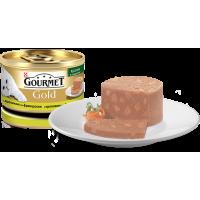"""Gourmet Gold """"Кусочки в паштете с кроликом по-французски"""", консервированный корм для котов, 85гр"""