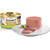 """Gourmet Gold """"Паштет с кроликом"""", консервированный корм для котов, 85гр"""