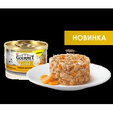 """Gourmet Gold """"Нежные биточки  с курицей и морковью"""", консервированный корм для котов, 85гр"""
