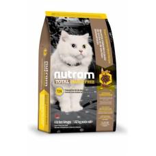 """Nutram T24 (Сухой без злаковый корм класса """"ХОЛИСТИК"""" для котов и котят с лососем и форелью), 6,8кг"""