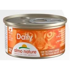 Консерва кусочки Almo Nature Daily с индюшкой и уткой, 85г