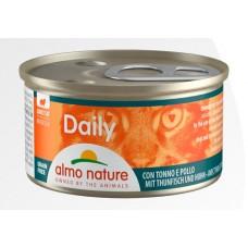 Консерва мусс Almo Nature Daily с тунцом и курицей, 85г