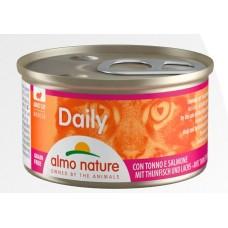 Консерва мусс Almo Nature Daily с тунцом и лососем, 85г