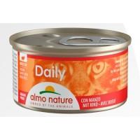 Консерва кусочки Almo Nature Daily с говядиной, 85г