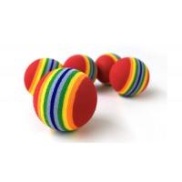 Мячи с радугой 4 шт 3,5см