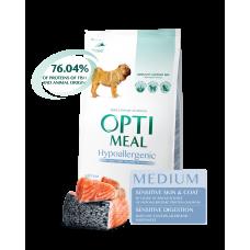 Optimeal сухой корм для собак средних пород гипоаллергенный с лососем, 1,5кг.
