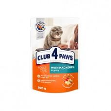 Клуб 4 лапы Premium Пауч кот. кролик в желе 100 г