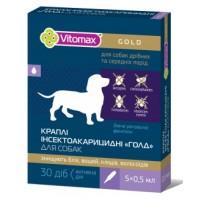"Vitomax Капли ""Голд"" инсектоакарицидные на холку для собак 0,5 мл / 5 флаконов"
