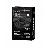 Vitomax Ошейник Black & White черный 70см.