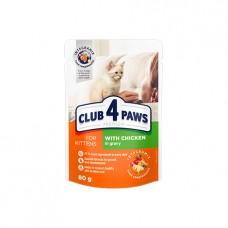 Клуб 4 лапы Premium Пауч кот. курица в соусе для котят 80 г