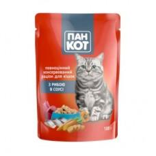Паучи для котов Пан-кот с рыбой, 100г