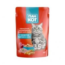 Паучи для котов Пан-кот с индейкой, 100г
