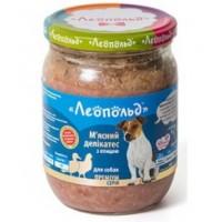 """Консервы """"Леопольд"""" Мясные деликатесы с птицей для собак 500 г"""