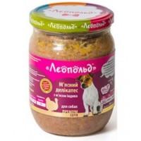 """Консервы """"Леопольд"""" Мясные деликатесы с мясом индейки для собак 500 г"""