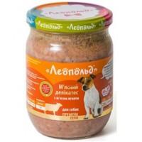 """Консервы """"Леопольд"""" Мясные деликатесы с мясом ягненка для собак 500 г"""