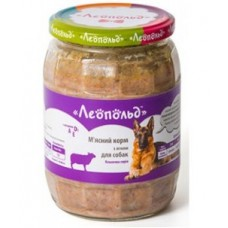 Консерви Леопольд М'ясний корм з ягням для собак, 720 г