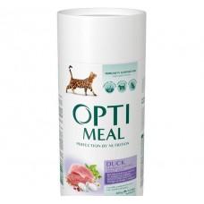 Optimeal сухой корм для котов с эффектом выведения шерсти с уткой, 650гр.