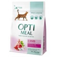 Optimeal сухой корм для котов с чувствительным пищеварением с ягненком, 300гр