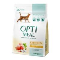 Optimeal сухой корм для котов с курицей, 300гр.