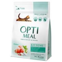 Optimeal сухой корм для котят с курицей, 300гр