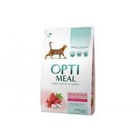 Optimeal сухой корм для котов с телятиной, 4кг.
