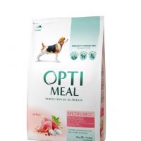 Optimeal сухой корм для собак средних пород с индейкой, 1,5кг.
