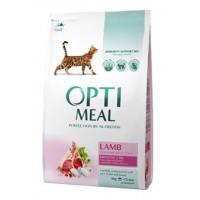 Optimeal сухой корм для котов с чувствительным пищеварением с ягненком, 4кг