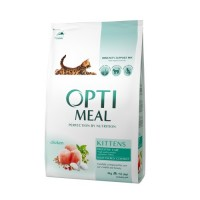 Optimeal сухой корм для котят с курицей, 4кг