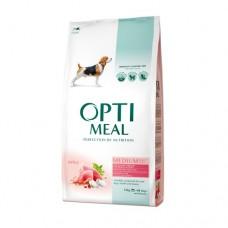 Optimeal сухой корм для собак средних пород с индейкой, 12кг.