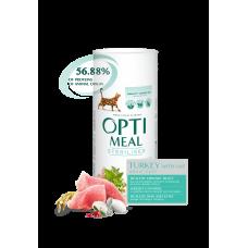 Optimeal сухой корм для стерилизованных котов с индейкой и овсом, 650гр