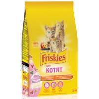 Фрискас сухой корм для котят курица, молоко и овощи 1,5кг