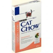 Cat Chow Sensitive (сухой корм для котов с чувствительным пищеварением), 400гр