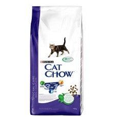 """Cat Chow 3in1 (Сухой кошачий корм """"3в1"""" - контроль образования комков шерсти в желудке, профилактика мочекаменной болезни и профилактика зубного камня), 15кг"""