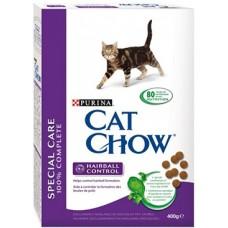 Cat Chow Hairball Control (сухой кошачий корм для контроля образования комков шерсти в желудке), 400гр