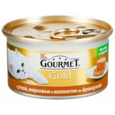 Гурмет Голд k 85г утка шпинат по французски