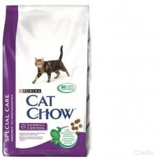Cat Chow Hairball Control (сухой кошачий корм для контроля образования комков шерсти в желудке), 15кг