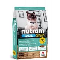 Nutram I19 для котов с проблемами желудка, кожи, шерсти