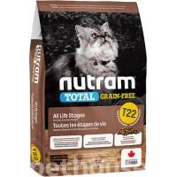 Nutram T22 Сухой без злаковый корм универсальный (мясо птицы)