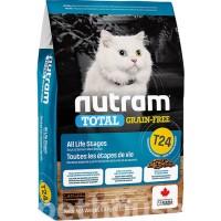 Nutram T24 сухой беззлаковый корм универсальный (с лососем)