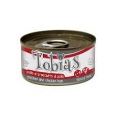 Tobias Консервы для собак с курицей и куриной ветчиной