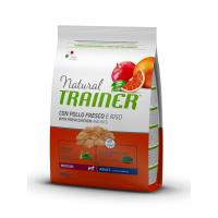 Trainer Natural Super Premium Adult Medium Con Pollo Fresco, Riso & Aloe Vera