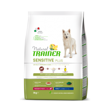 Natural Trainer Dog Sensitive Plus Adult MM With Horse