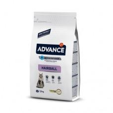 Advance Cat Hairball Turkey & Rice для выведения шерсти, 1,5кг