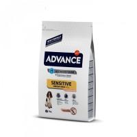 Advance Dog Med/Maxi Sensitive Salmon&Rice для дорослих собак з чутливим шлунком