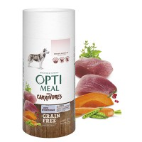 Optimeal сухой корм для собак всех пород беззерновой с уткой и овощами, 1,5кг.