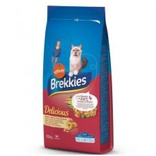 Brekkies Cat Delice Meat з куркою для дорослих котів