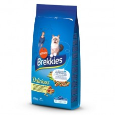 Brekkies Cat Delice Fish для взрослых котов с рыбой 20 кг