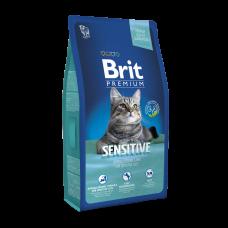 Brit Premium Cat Sensitive 8 kg (д/ кошек c чувствительным пищеварением)