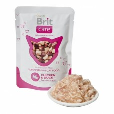 Brit Care Cat pouch 80g  курица и утка